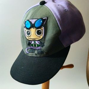 DC Catwoman Grey and Purple Top SnapBack Hat